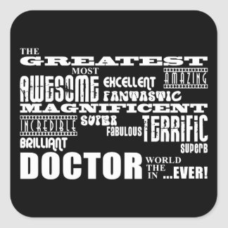 Cool Modern Fun Doctors Greatest Doctor World Ever Stickers