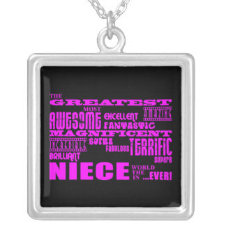 Cool Modern Fun Nieces : Greatest Niece Silver Plated Necklace