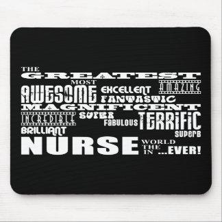 Cool Modern Fun Nurses : Greatest Nurse World Ever Mousepads