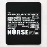 Cool Modern Fun Nurses : Greatest Nurse World Ever Mouse Pad