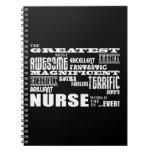 Cool Modern Fun Nurses : Greatest Nurse World Ever Spiral Note Books