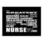 Cool Modern Fun Nurses : Greatest Nurse World Ever Postcard