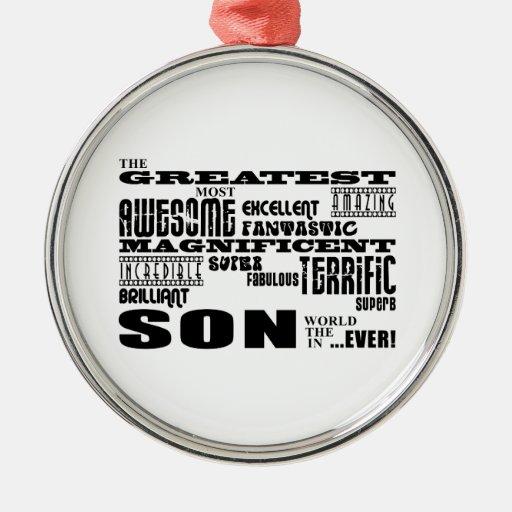 Cool Modern Fun Sons : Greatest Son Christmas Ornament