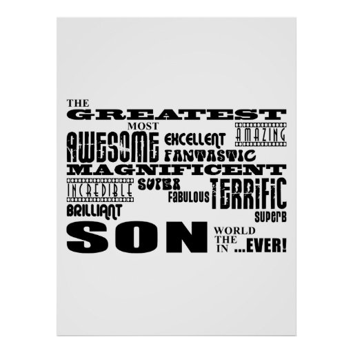 Cool Modern Fun Sons : Greatest Son Poster