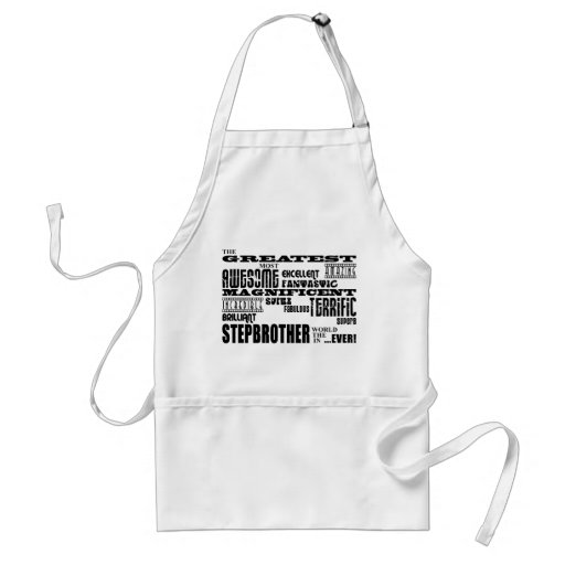 Cool Modern Fun Stepbrothers  Greatest Stepbrother Aprons