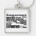 Cool Modern Fun Stepbrothers  Greatest Stepbrother Keychains