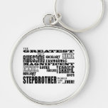 Cool Modern Fun Stepbrothers  Greatest Stepbrother Key Chains