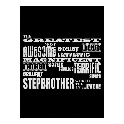 Cool Modern Fun Stepbrothers  Greatest Stepbrother Poster
