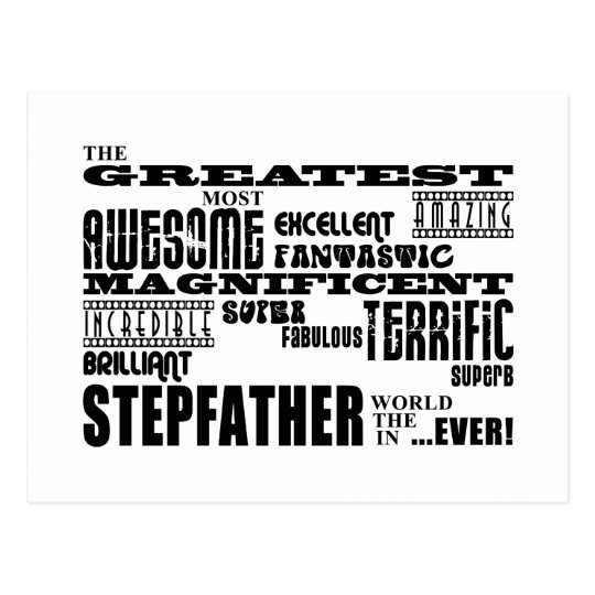 Cool Modern Fun Stepfathers : Greatest Stepfather Postcard