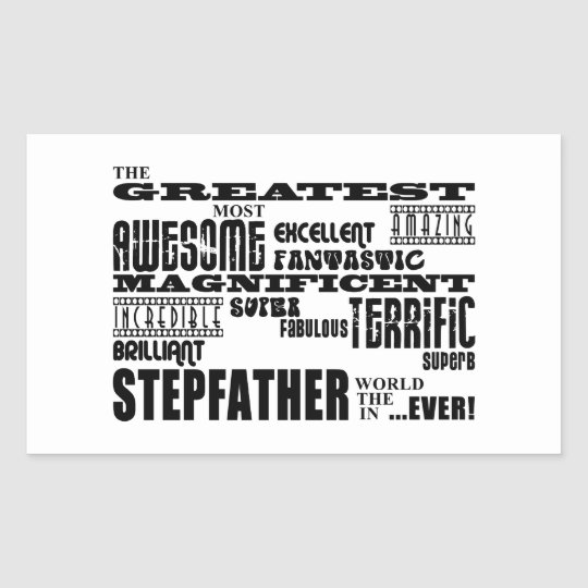 Cool Modern Fun Stepfathers : Greatest Stepfather Rectangular Sticker