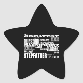Cool Modern Fun Stepfathers : Greatest Stepfather Star Stickers