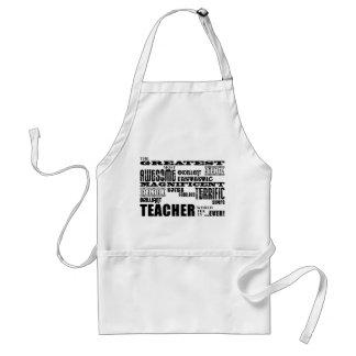 Cool Modern Fun Teachers : Greatest Teacher World Adult Apron
