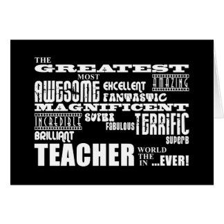 Cool Modern Fun Teachers : Greatest Teacher World Card