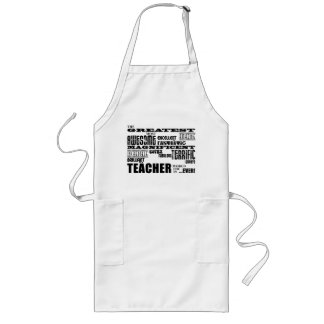 Cool Modern Fun Teachers : Greatest Teacher World Long Apron