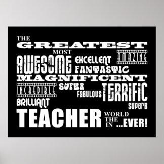 Cool Modern Fun Teachers : Greatest Teacher World Poster