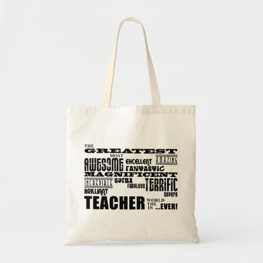 Cool Modern Fun Teachers : Greatest Teacher World Tote Bag