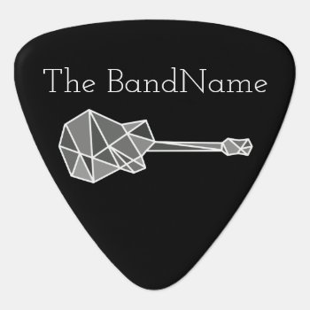 Cool  Modern & Geometric Electric-guitar On Black Guitar Pick by mixedworld at Zazzle