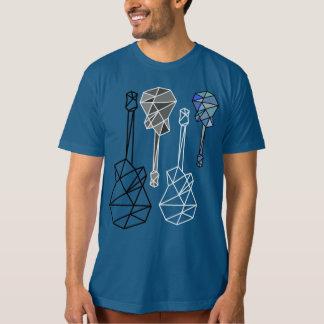 cool & modern geometric guitars, a music T-Shirt