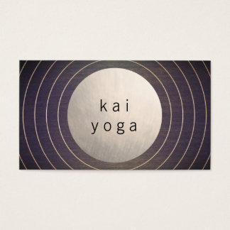 Cool Modern Gold Circle Yoga Teacher & Healer Business Card