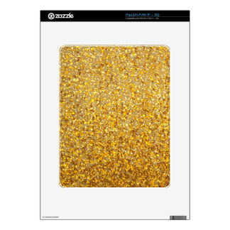 COOL MODERN GOLD WITH GLITTER DECAL FOR THE iPad
