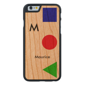 cool, modern, graphic and personalized carved® cherry iPhone 6 slim case