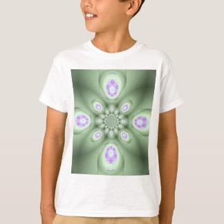 Cool Modern Green Abstract Lavender Petals T-Shirt