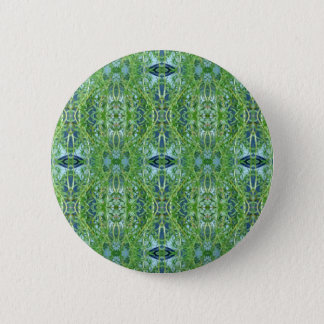 Cool Modern Green Tribal Pattern Button