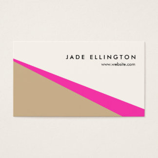 Cool Modern Hot Pink Abstract Geometric Business Card
