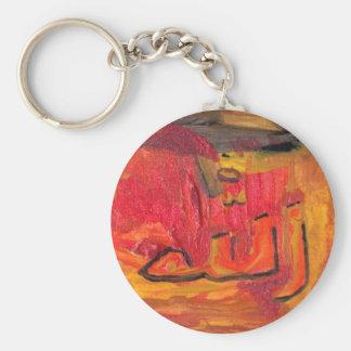 Cool Modern Islamic Design Name of God Basic Round Button Keychain