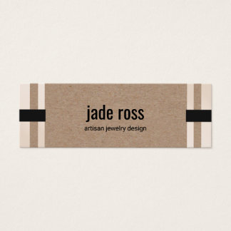 Cool Modern Kraft Paper Jewelry Designer Mini Business Card