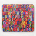 Cool modern letter mosaic mouse pad