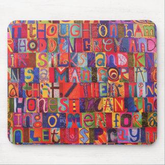Cool modern letter mosaic mousepads
