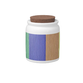 Cool Modern Linear Strips Of Colors Candy Jar