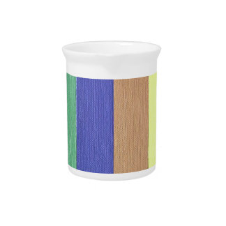 Cool Modern Linear Strips Of Colors Pitcher