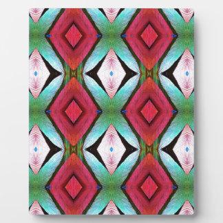 Cool Modern Magenta Teal  Pattern Plaque