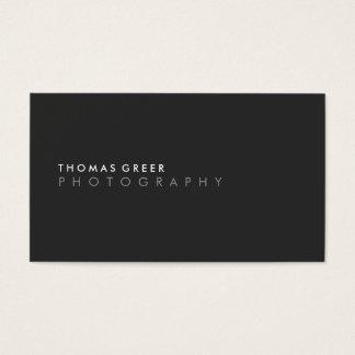 Cool Modern Minimalist Black Professional Business Card