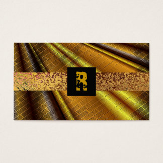 Cool Modern Monogram Bro Grunge Initial Steampunk Business Card