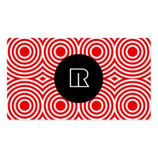 Cool Modern Monogram Unique Digital Initial Letter Business Card