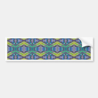 Cool Modern Multi colored Tribal Pattern Bumper Sticker