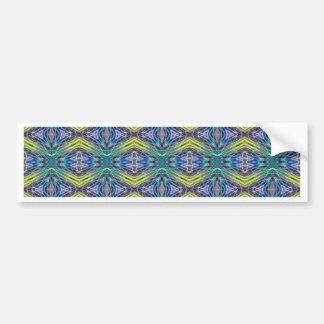 Cool Modern Multi colored Tribal Pattern Bumper Sticker