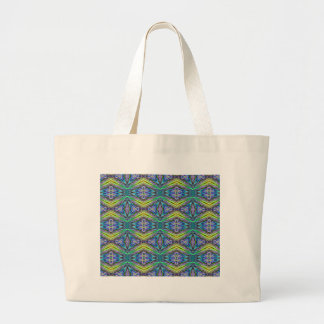 Cool Modern Multi colored Tribal Pattern Large Tote Bag