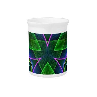Cool Modern Neon Triangular Layers Beverage Pitcher