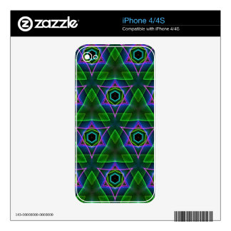 Cool Modern Neon Triangular Layers iPhone 4 Skins