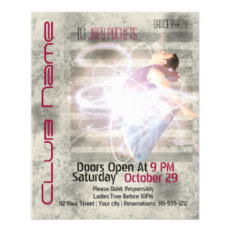 Cool Modern Nightclub Dance Club Business Flyer
