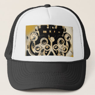 Cool Modern Optometrists Phoroptor Lenses Trucker Hat