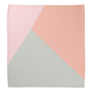 Cool modern pastel colors abstract pattern bandana
