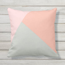 Cool modern pastel colors abstract pattern outdoor pillow