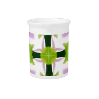Cool Modern Pink Green Chic Abstract Drink Pitcher