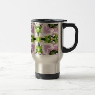 Cool Modern Pink Green Chic Abstract Travel Mug