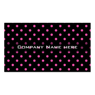 cool, modern, pink polka dots black profile card business card template